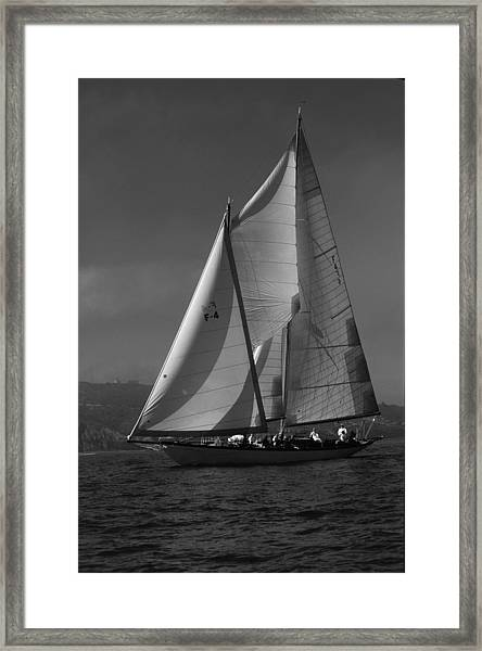 Schooner In Bay 2 Framed Print