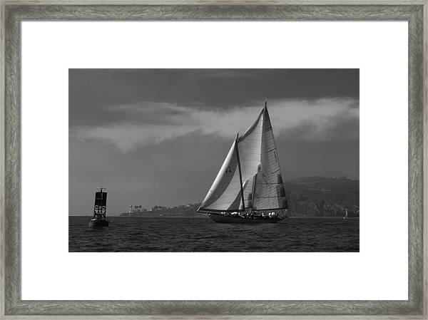 Schooner Off Point Loma Framed Print