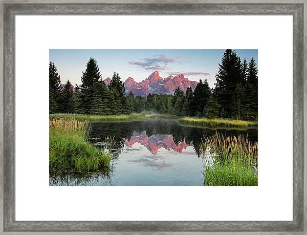 Schwabacher Landing Sunrise Framed Print