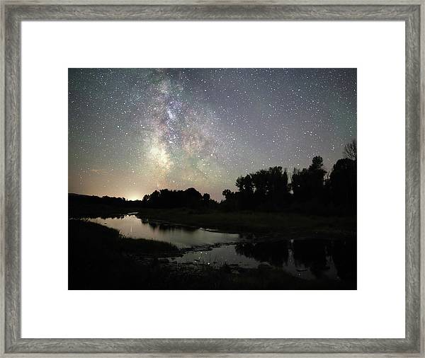 Schwabacher's Landing At Night Framed Print by Jean Clark