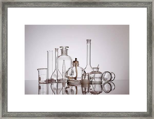 Scientific Glassware Framed Print