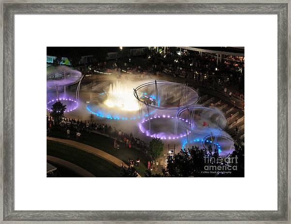 Scioto Mile Riverfront Park Framed Print