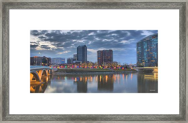 Framed Print featuring the photograph Scioto Morning 3567 by Brian Gryphon