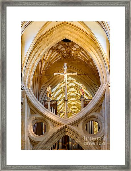 Scissor Arches, Wells Cathedral Framed Print