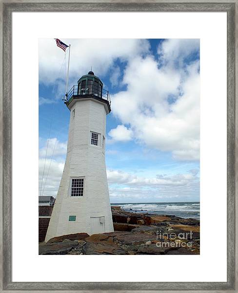 Framed Print featuring the photograph Scituate Light by Barbara Von Pagel