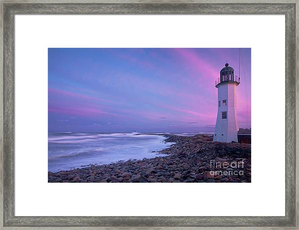 Framed Print featuring the photograph Scituate Sunset  by Susan Cole Kelly