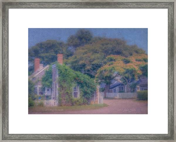 Sconset Cottages Nantucket Framed Print