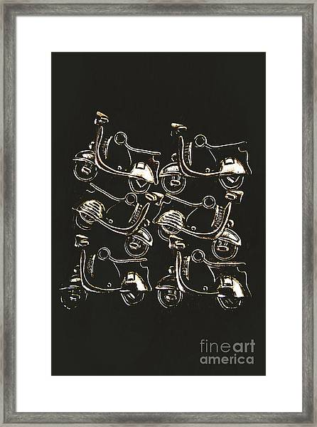 Scooters Of Pop Culture Framed Print