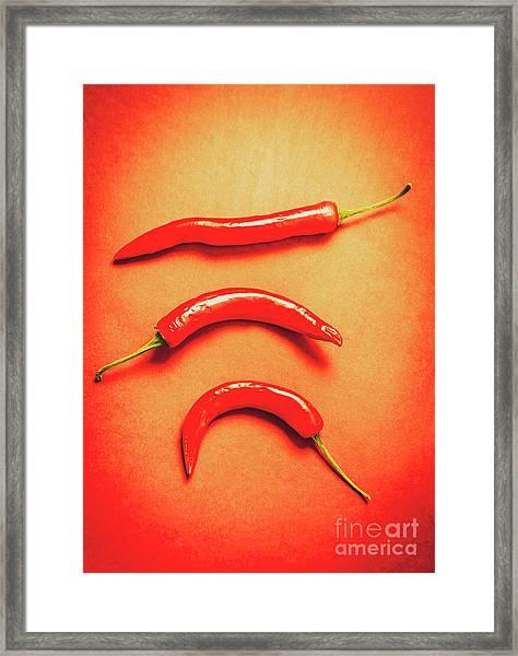 Scorching Food Background Framed Print
