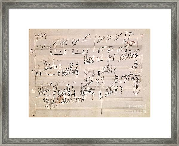 Score Sheet Of Moonlight Sonata Framed Print