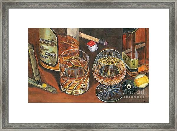 Scotch Cigars And Poll Framed Print