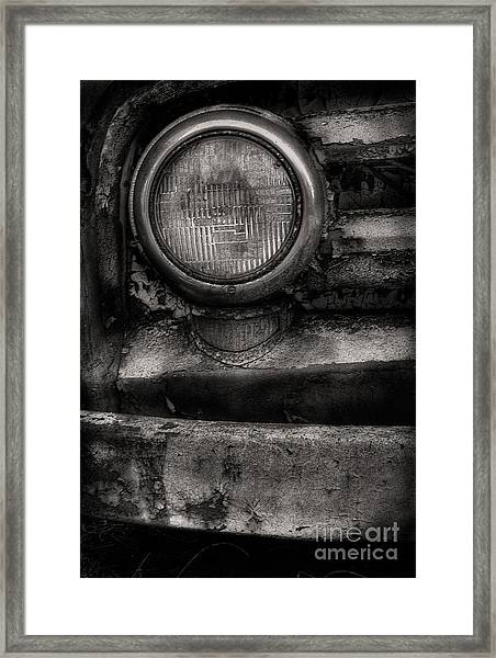 Scotopic Vision 7 - Headlight Framed Print