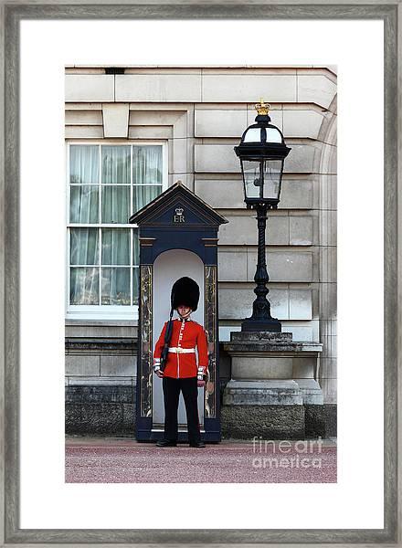 Scots Guard Buckingham Palace Framed Print