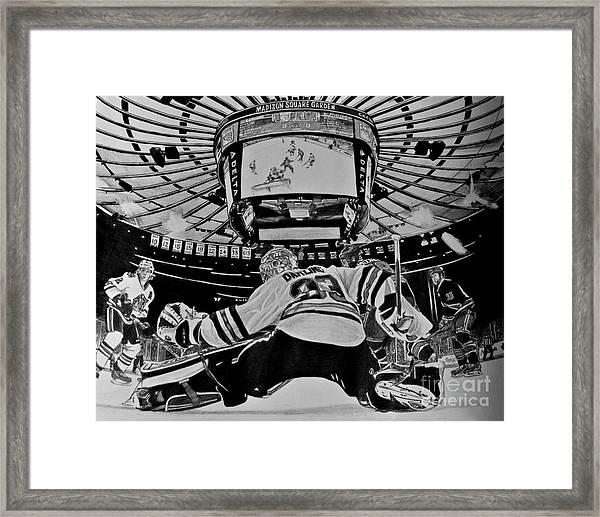 Scott Darling - First Nhl Shutout Framed Print