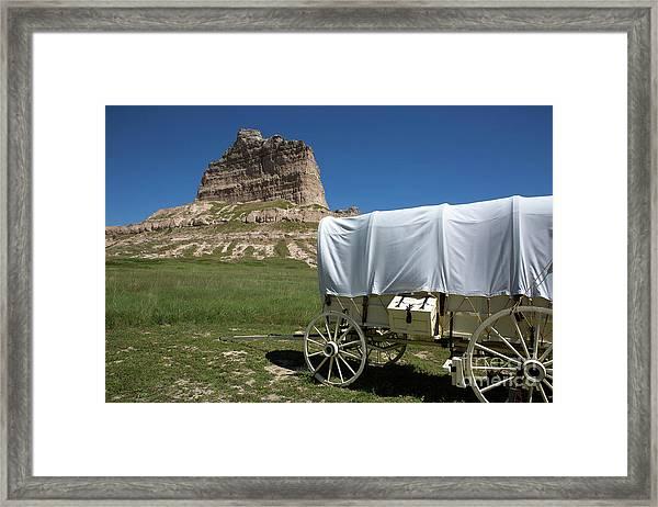 Scotts Bluff National Monument Nebraska Framed Print