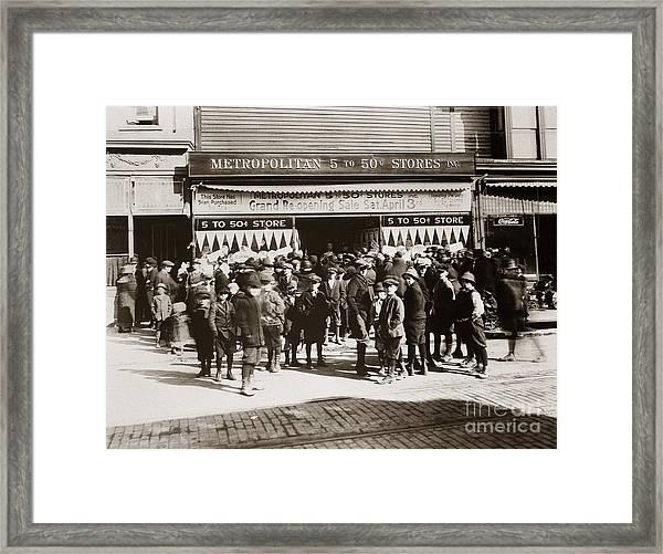 Scranton Pa Metropolitan 5 To 50 Cent Store Early 1900s Framed Print