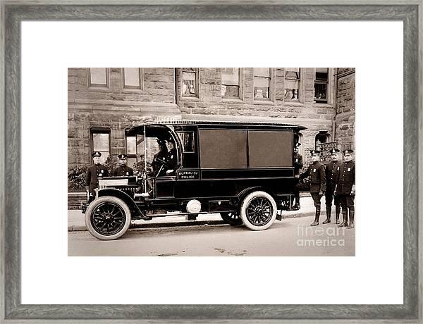 Scranton Pennsylvania  Bureau Of Police  Paddy Wagon  Early 1900s Framed Print
