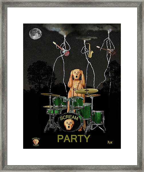 Framed Print featuring the mixed media Scream Soul Tour by Eric Kempson