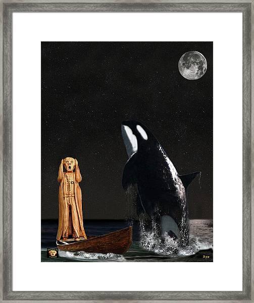 Scream With Orca Framed Print