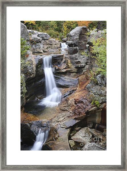Screw Auger Falls - Maine  Framed Print