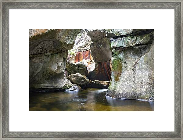 Screw Auger Falls Cavern Framed Print