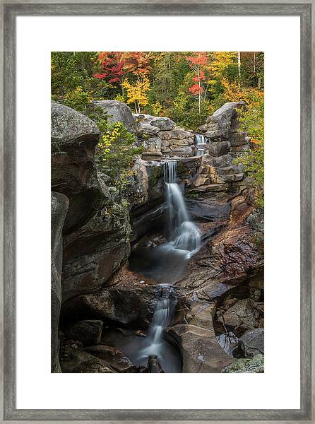 Screw Auger Falls In Autumn Framed Print