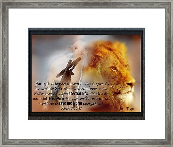 Scripture Art    Lamb Of God Framed Print