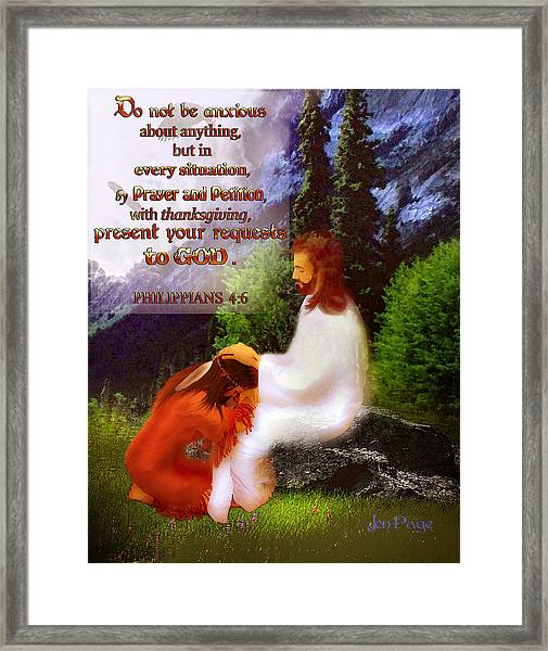 Scripture Art   Native Prayer Framed Print