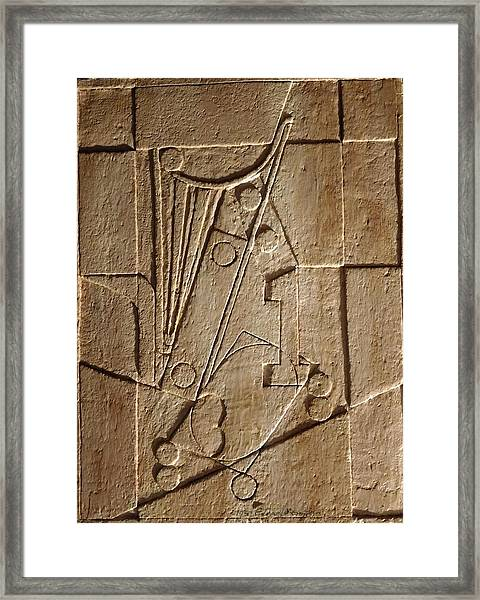Sculptured Panel - Influenced By Picasso's Painting Having The Number 1 Framed Print