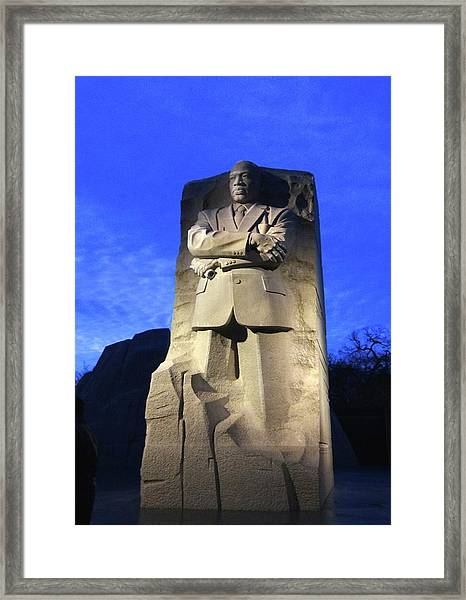 Sculptured Profile Martin Luther King Jr. Framed Print