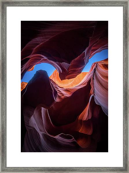 Sculptures Of Desert Framed Print
