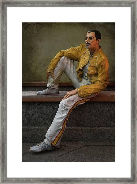 Sculptures Of Sankt Petersburg - Freddie Mercury Framed Print