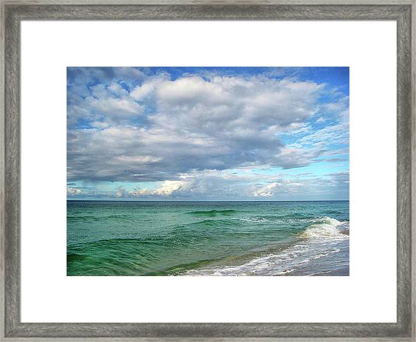 Sea And Sky - Florida Framed Print