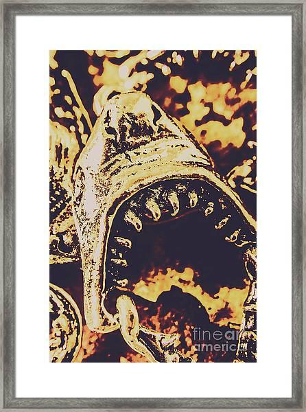Sea Bites Framed Print