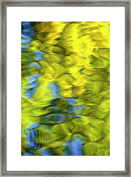 Sea Breeze Mosaic Abstract Framed Print
