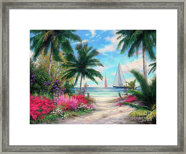 Sea Breeze Trail Framed Print