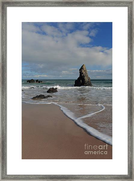 Sea Foam On Sango Bay Framed Print