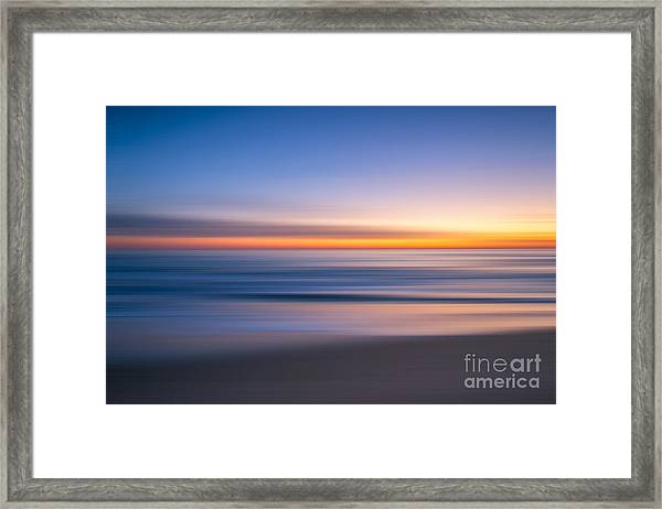 Sea Girt New Jersey Abstract Seascape Sunrise Framed Print
