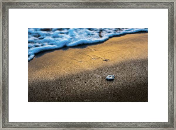 Sea Layers Of Colors Framed Print