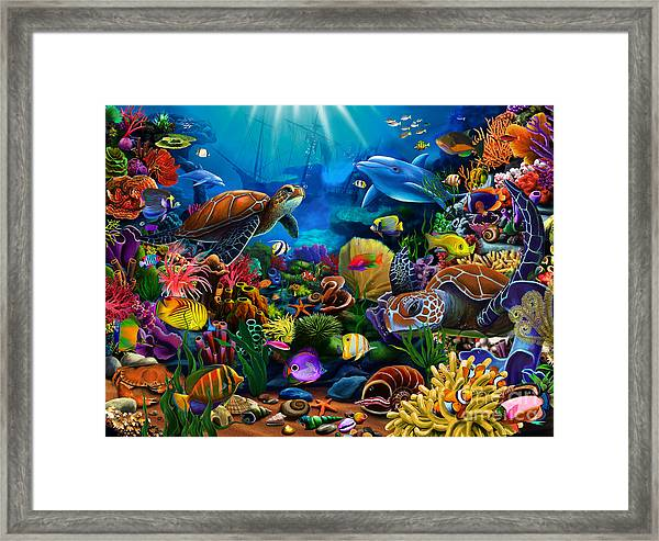 Sea Of Beauty Framed Print