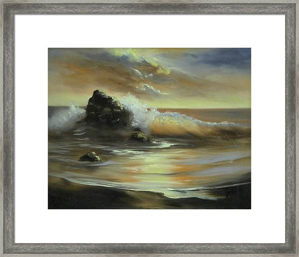 Sea Of Gold Framed Print