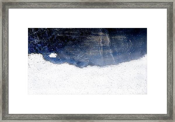Sea, Satellite - Coast Line On Blue Ocean Illusion Framed Print
