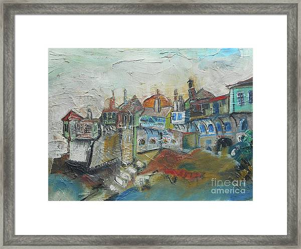 Sea Shore Village Framed Print