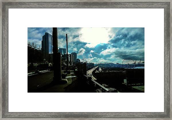 Sea Side, Seattle  Framed Print