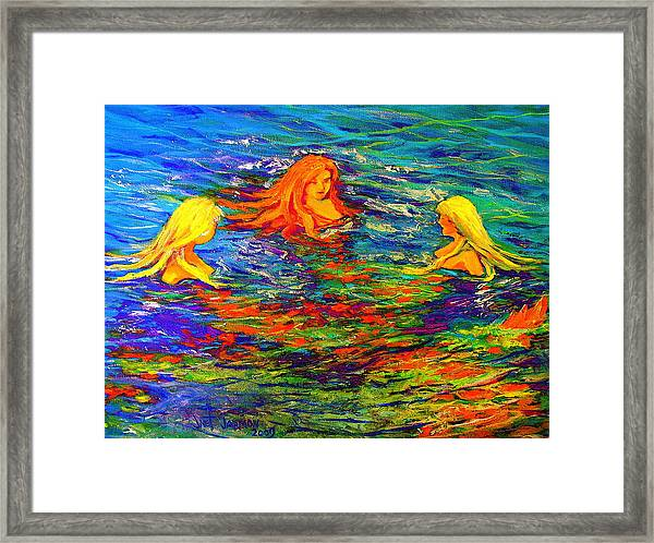 Sea Sisters Revisited Framed Print