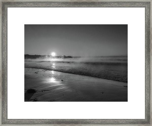 Framed Print featuring the photograph Sea Smoke by Samuel M Purvis III