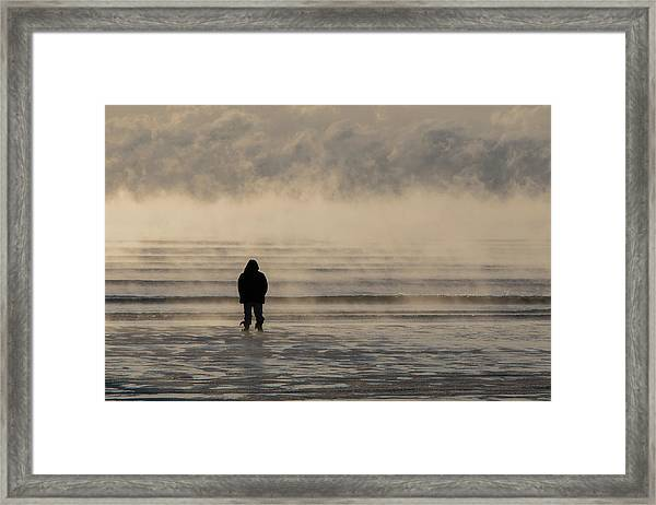 Sea Smoke Thinking Man Framed Print