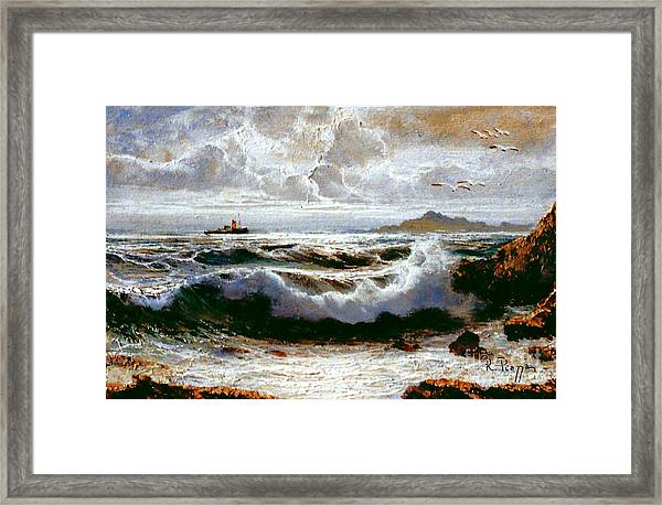 Sea Storm Framed Print