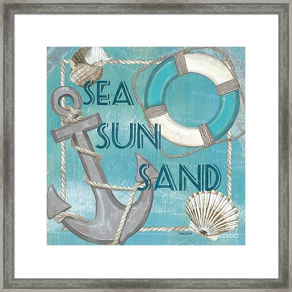 Sea Sun Sand Framed Print