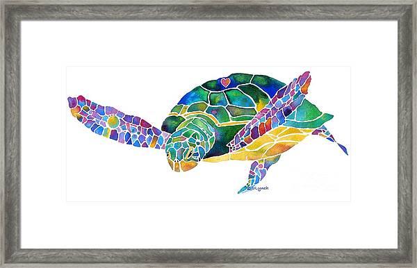 Sea Turtle Celebration 4 Prints Only Framed Print